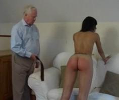 Tuhma tyttärentytär saa piiskaa isoisältä