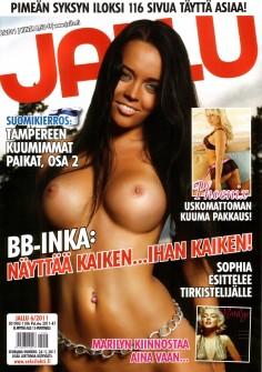 Inka Tuominen Jallu pornolehden kuvissa